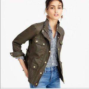 J Crew Downtown Field Jacket Green Cargo